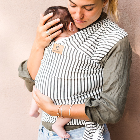 stripes baby wrap organic cotton